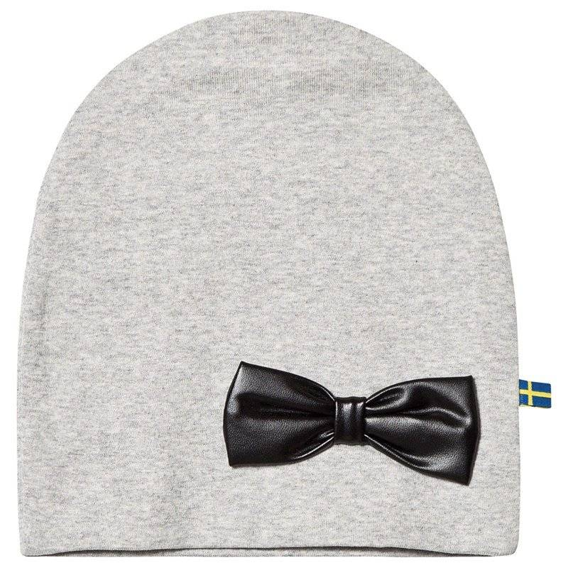 The BRAND HAT W LEATHER BOW GREY MELANGE