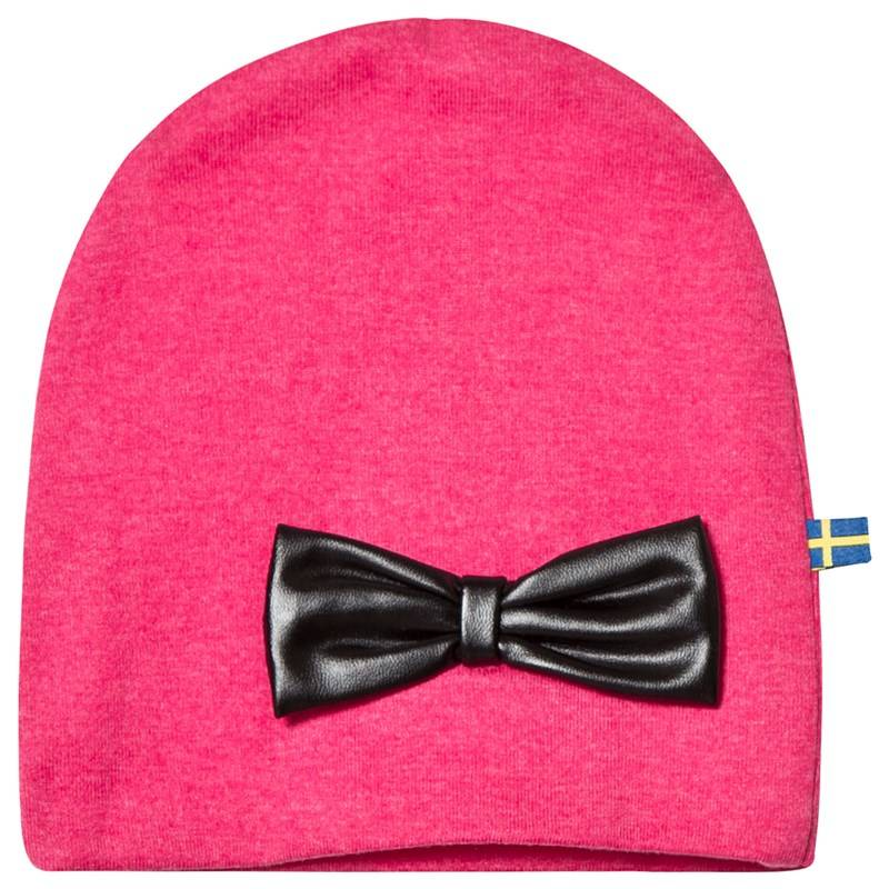 The BRAND HAT W LEATHER BOW PINK MELANGE