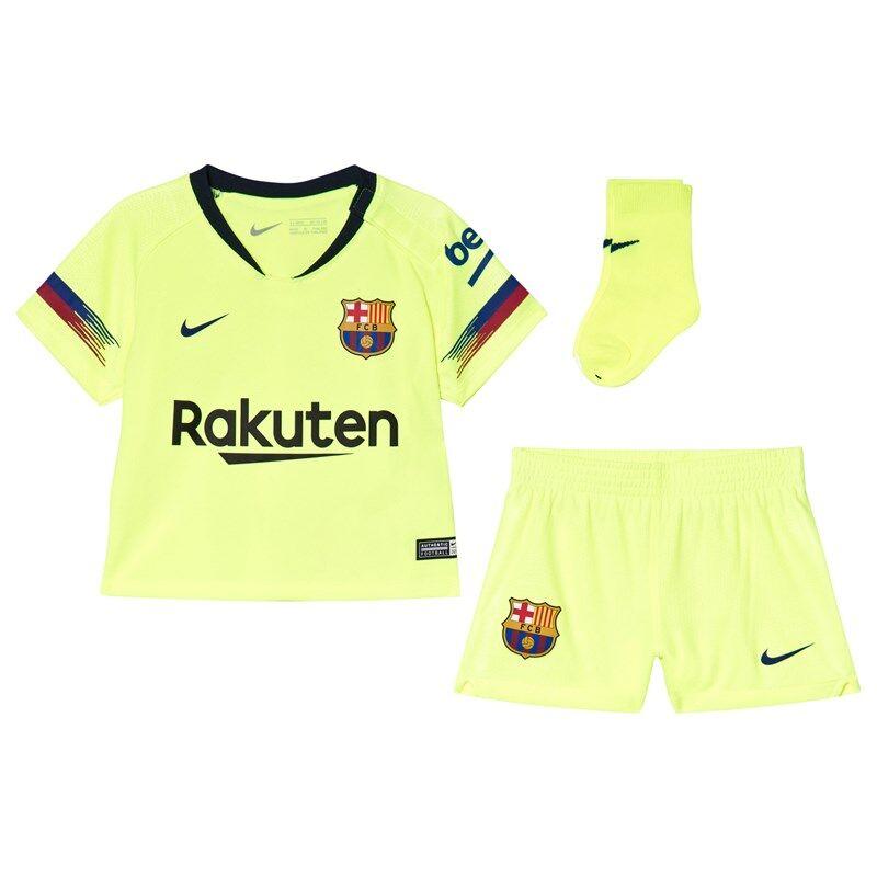 Barcelona FC Yellow Breathe FC Barcelona Infants Away Kit24-36 months