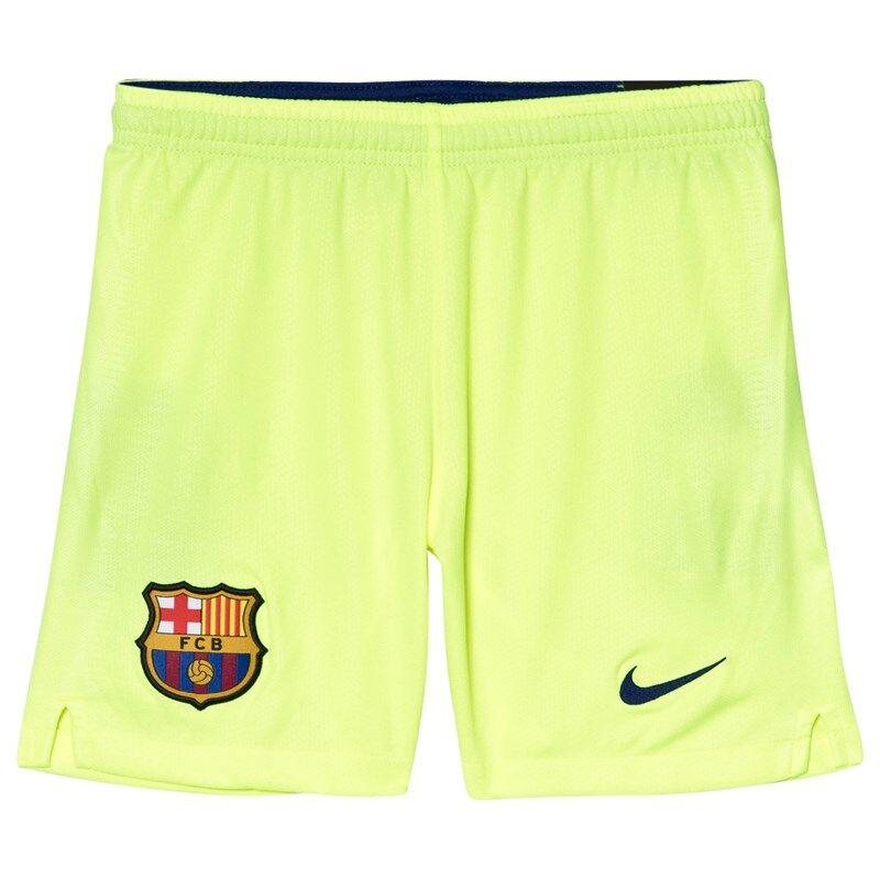 Barcelona FC Yellow Nike Breathe FC Barcelona Stadium Away Football ShortsS (8-10 years)