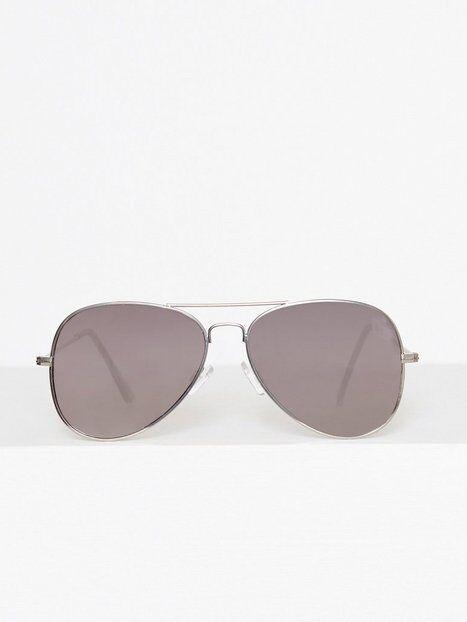 Image of Topman Silver Hunter Aviator Sunglasses Aurinkolasit Metallic