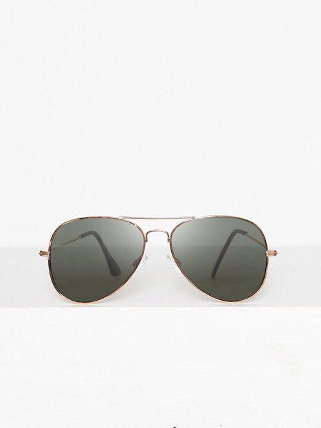 Image of Topman Gold And Green Hunter Aviator Sunglasses Aurinkolasit Gold