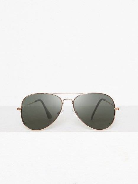 Image of Topman Gold And Green Hunter Aviator Sunglasses Aurinkolasit Gold