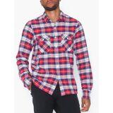 Replay Shirt Kauluspaidat Punainen/Sininen