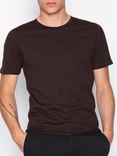 Image of Selected Homme Slhtheperfect Mel Ss O-Neck Tee B N T-paidat ja topit Tummanvioletti