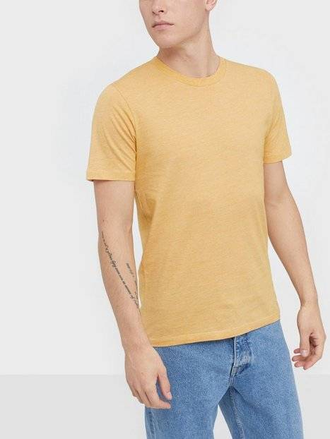 Image of Selected Homme Slhtheperfect Mel Ss O-Neck Tee B N T-paidat ja topit Aprikoosi
