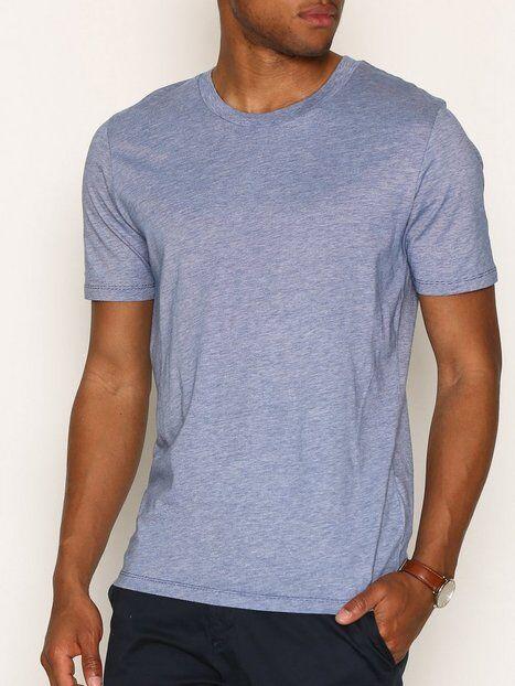 Image of Selected Homme Slhtheperfect Mel Ss O-Neck Tee B N T-paidat ja topit Tummansininen