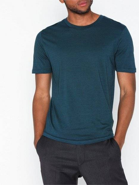 Image of Selected Homme Slhtheperfect Mel Ss O-Neck Tee B N T-paidat ja topit Blue