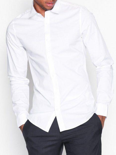 Image of Only & Sons onsALFREDO Ls Shirt Ex-Slim Noos T-paidat ja topit Valkoinen