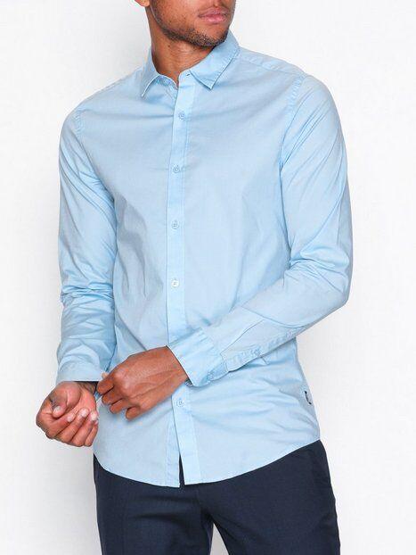Image of Only & Sons onsALFREDO Ls Shirt Ex-Slim Noos T-paidat ja topit Sininen