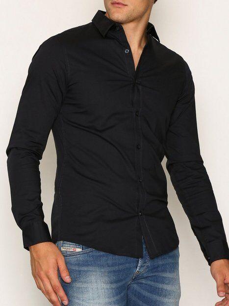 Image of Only & Sons onsALFREDO Ls Shirt Ex-Slim Noos T-paidat ja topit Tummansininen
