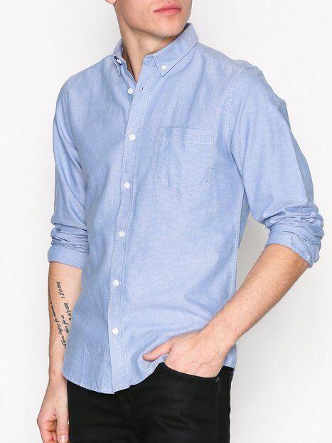 Image of Only & Sons onsALVARO Ls Oxford Shirt Noos T-paidat ja topit Sininen