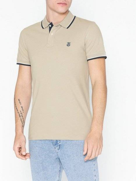 Image of Selected Homme Slhnewseason Ss Polo W Noos Puserot Vaaleanharmaa