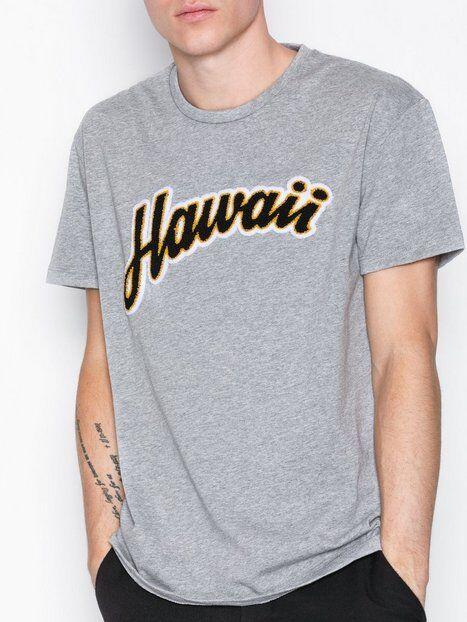 Image of Selected Homme Shxaron Ss O-Neck Tee T-paidat ja topit Vaaleanharmaa