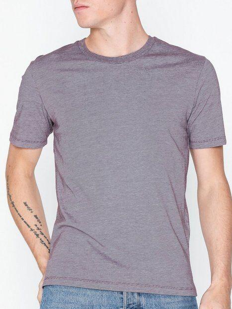 Image of Selected Homme Slhtheperfect Melange Ss O-Neck Tee T-paidat ja topit Tummanvioletti