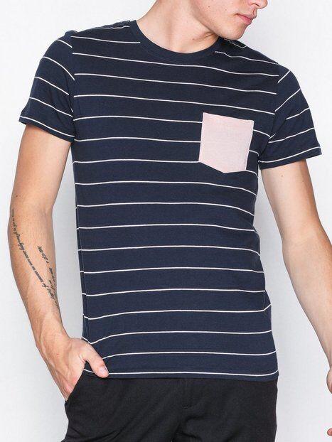 Image of Selected Homme Shdindy Pocket Ss O-Neck Tee T-paidat ja topit Tummansininen