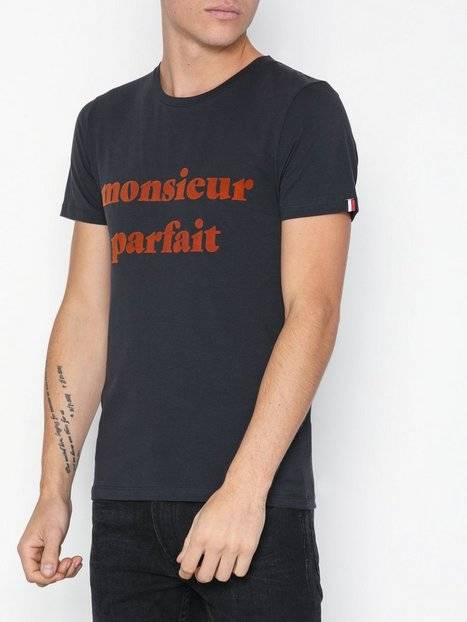 Image of Selected Homme Slhlyon Ss O-Neck Tee W Ex T-paidat ja topit Tummansininen