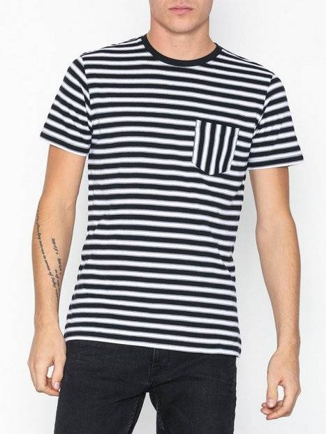 Image of Selected Homme Slhmax Pocket Ss O-Neck Tee B T-paidat ja topit Valkoinen