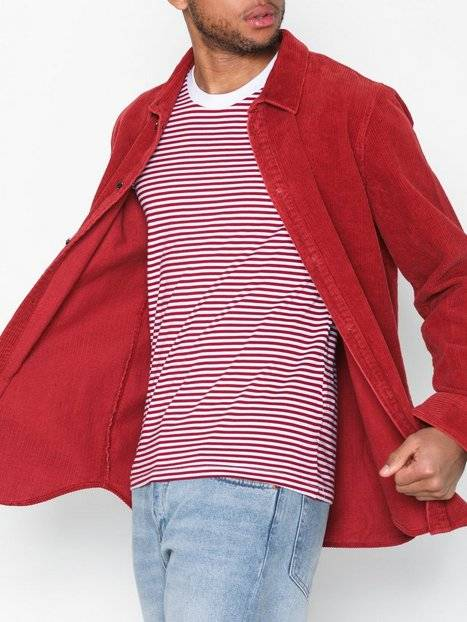 Image of Selected Homme Slhtheperfect Stripe Ss O-Neck Tee T-paidat ja topit Punainen