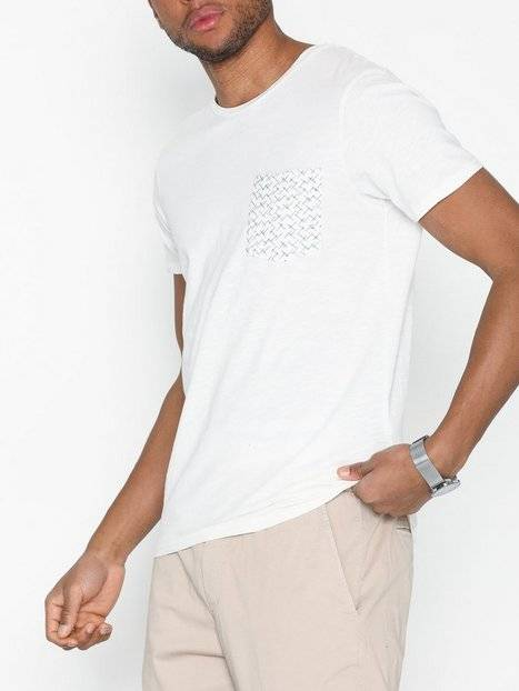 Image of Selected Homme Slhkristian Aop Ss O-Neck Tee W T-paidat ja topit Offwhite