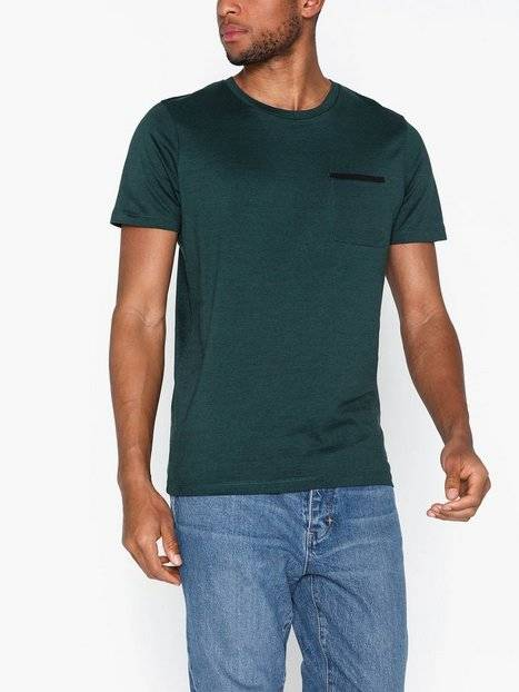 Image of Selected Homme Slhpoe Ss O-Neck Tee B T-paidat ja topit Teal