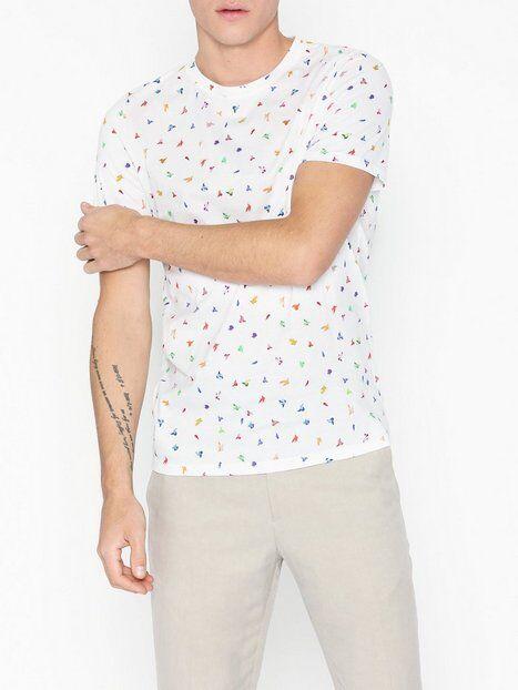 Image of Selected Homme Slhfeddon Ss O-Neck Tee B T-paidat ja topit Valkoinen