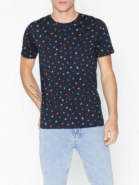 Image of Selected Homme Slhfeddon Ss O-Neck Tee B T-paidat ja topit Tummansininen