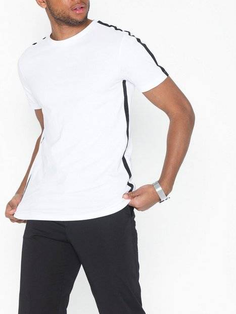 Image of Selected Homme Slhrib Ss O-Neck Tee B T-paidat ja topit Valkoinen