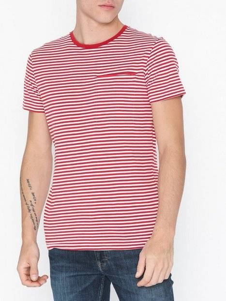 Image of Selected Homme Slhtim Ss O-Neck Tee W T-paidat ja topit Punainen