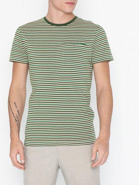 Image of Selected Homme Slhtim Ss O-Neck Tee W T-paidat ja topit Tummanvihreä