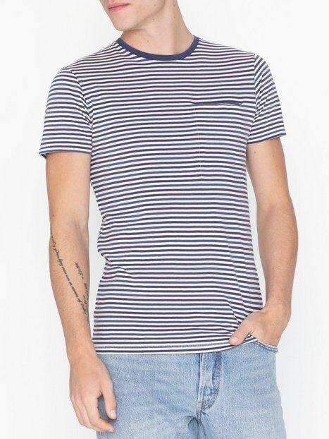 Image of Selected Homme Slhtim Ss O-Neck Tee W T-paidat ja topit Tummansininen