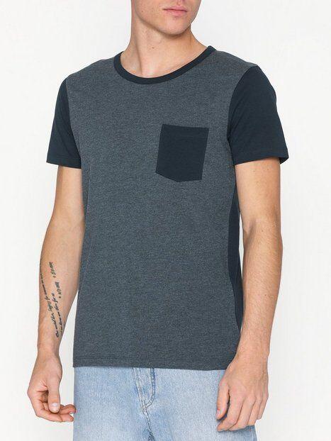 Image of Selected Homme Slhinka Ss O-Neck Tee B T-paidat ja topit Tummansininen