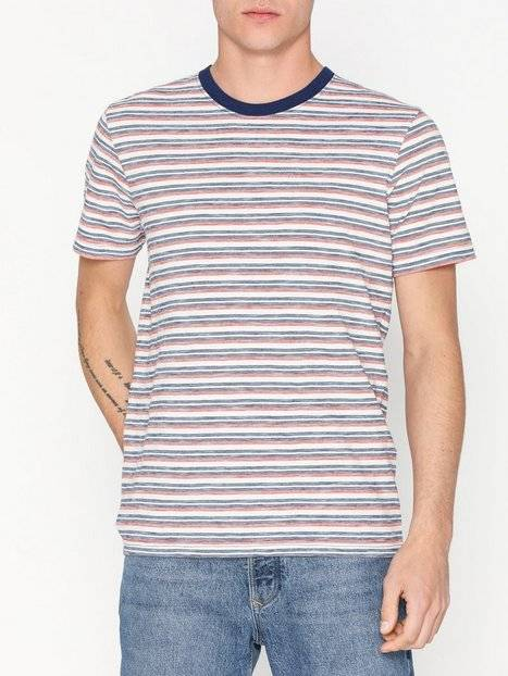 Image of Selected Homme Slhkasper Stripe Ss O-Neck Tee W Ca T-paidat ja topit Offwhite