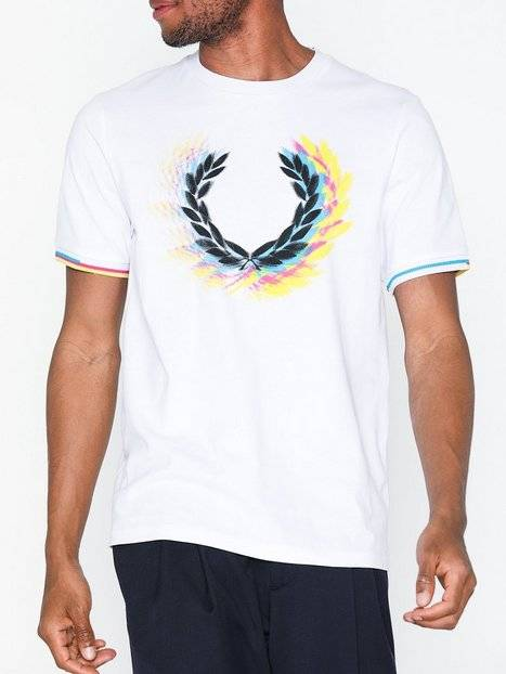Fred Perry Process Col Brand T-Shirt T-paidat ja topit White