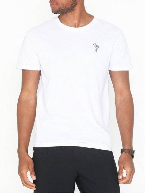 Image of Selected Homme Slhmiami Ss O-Neck Tee B T-paidat ja topit Valkoinen