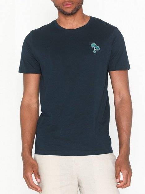 Image of Selected Homme Slhmiami Ss O-Neck Tee B T-paidat ja topit Tummansininen