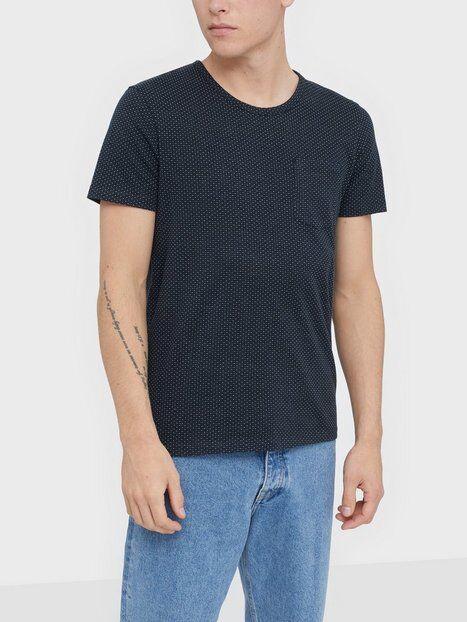 Image of Selected Homme Slhmute Ss O-Neck Tee B T-paidat ja topit Tummansininen