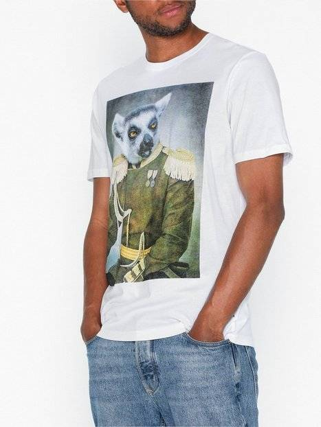 Image of Only & Sons Onsburney Ss Funny Tee T-paidat ja topit Valkoinen