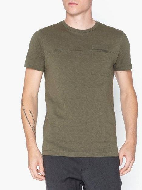 Image of Selected Homme Slhutility Ss O-Neck Tee W T-paidat ja topit Vihreä