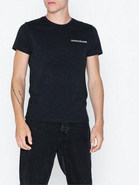 Image of Calvin Klein Jeans Chest Instit Slub Slim Ss T-paidat ja topit Musta
