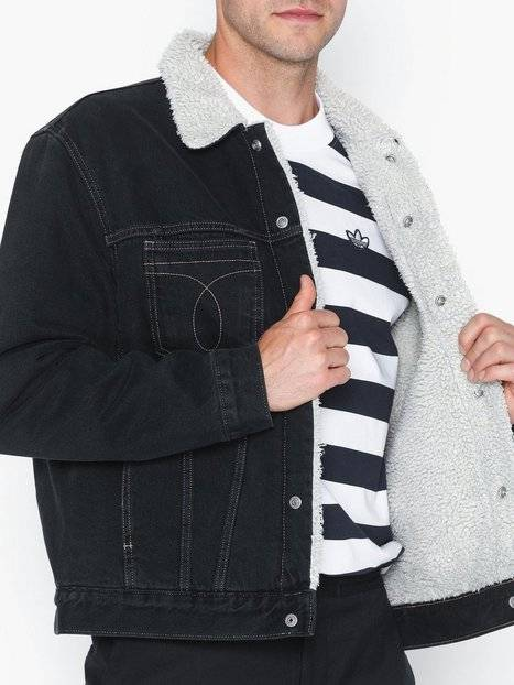 Image of Calvin Klein Jeans Iconic Omega Sherpa Denim Jacket Takit Sininen