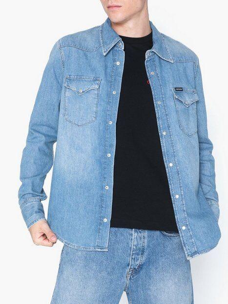 Image of Calvin Klein Jeans Foundation Western Shirt Kauluspaidat Sininen