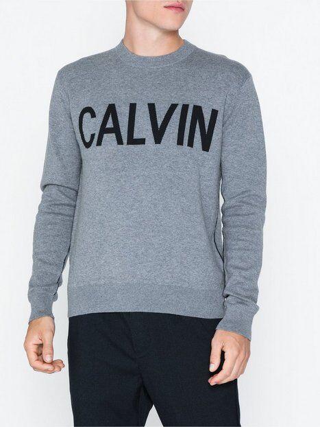 Image of Calvin Klein Jeans Calvin Cn Sweater Puserot Harmaa