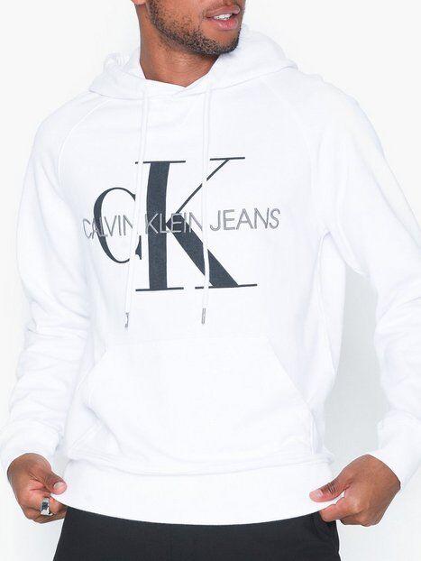 Image of Calvin Klein Jeans Washed Reg Monogram Hoodie Puserot Valkoinen