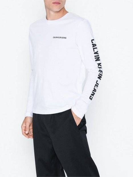 Image of Calvin Klein Jeans Number Tee Instit L/S Tee Puserot Valkoinen