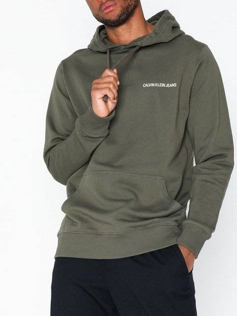 Image of Calvin Klein Jeans Small Instit Reg Hoodie Puserot Tummanvihreä