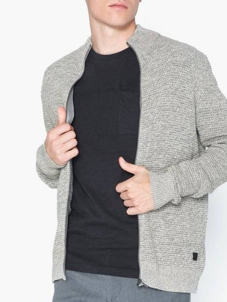 Image of Only & Sons onsDANIEL 5 Struc Zip Cardigan Knit Puserot Vaaleanharmaa
