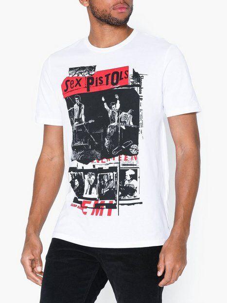 Image of Only & Sons Onssexpistols Reg Ss Tee T-paidat ja topit Valkoinen