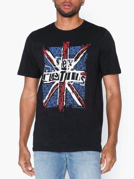 Image of Only & Sons Onssexpistols Reg Ss Tee T-paidat ja topit Musta