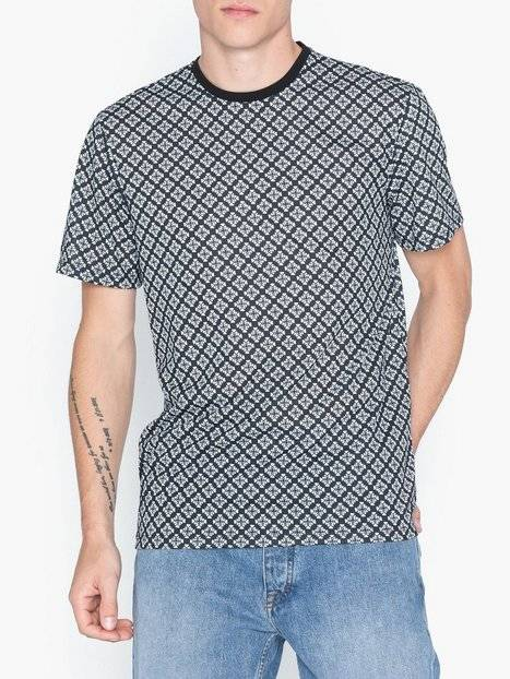Image of Only & Sons Onsvp Reg Ss Comp Aop Tee T-paidat ja topit Musta